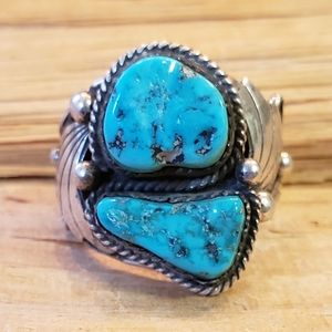 Vintage Native American Sterling Silver Ring 13.25